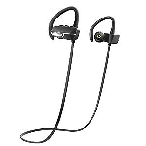 VicTsing Auriculares Bluetooth 4.1 Inalámbrico Con Sonido Estéreo para Deporte / Correr con AptX y Manos Libres para iPhone7, Sony, HUAWEI, XIAOMI PC etc- Color Negro