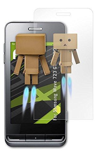 Samsung Wave 723 (GT-S7230) Spiegelfolie - atFoliX FX-Mirror Displayschutz Folie mit Spiegeleffekt