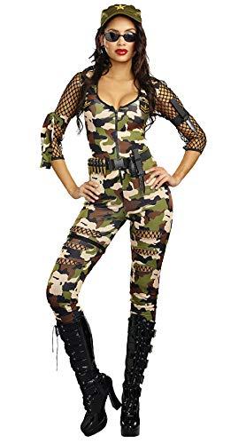 Sexy Military Girl Kostüm - opdamyi Damen Sexy Armee Girl Kostüm, Cosplay Kostüm Kurzoverall