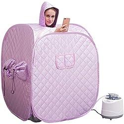 Tragbare Sauna Dampfgarer Home Spa Negative Ion Detox GanzköRper Abnehmen Gewichtsverlust Bad Innen Fernbedienung FüR Bad 99 Min