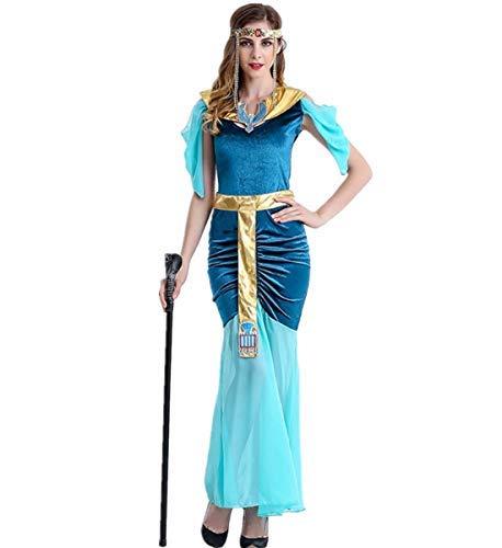 Griechisch Kostüm Römischen Ägyptische - LOBTY Damen Römische Göttin griechische Halloween Kostüm Griechischer Göttin Kostüm Oder Ägyptisches Kostüm