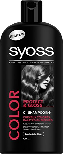 Syoss - Shampooing - Color Protect & Gloss - Cheveux Colorés - Flacon 500 ml