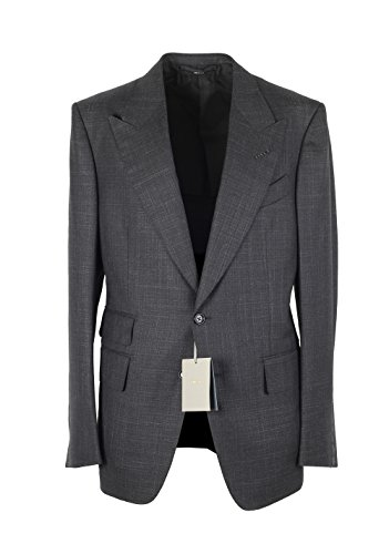 CL - TOM FORD Shelton Checked Gray Suit Size 50 / 40R U.S. In Wool Silk