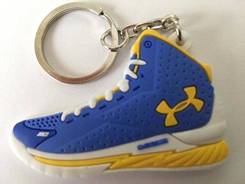 Preisvergleich Produktbild Under Armour Stephen Curry Schlüsselanhänger Blau-Gelb Sneaker Keychain