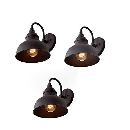 American Vintage Garten Lampe Outdoor Retro Wandleuchte Wasserdicht Industrie Außenwand Außen Hängelampe Antik Schmiedeeisen Küche Flur Außenwand Laterne -