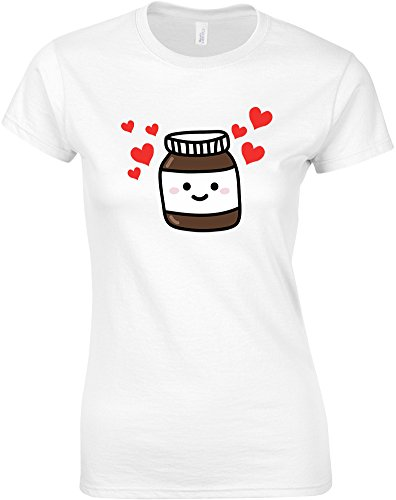 nutella-mesdames-t-shirt-imprime-blanc-transfert-s-78-81cm