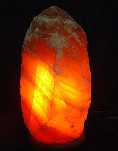 Lampada di sale himalyano 4-6 kg medium sale rosa 25% di sconto con lampadina e porta candela di sale
