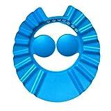Flexible weiche EVA Kinder einstellbare Duschhaube Baby Care Bade Schutzkappe für Kinder Baby Wash Haar Schild Duschhaube - blau