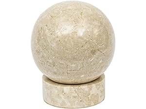 Meso boule en marbre avec support Crème
