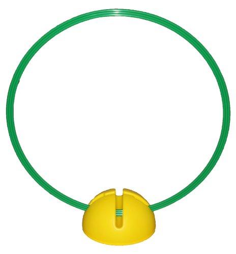 Agility Hundesport - X-Standfuß, gelb und Ring / Reifen Ø 60 cm, grün