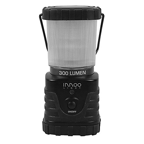 Preisvergleich Produktbild InnooLight LED Camping Laterne 300lm tragbar, 3 Helligkeitsstufe, Batteriebetrieben, IP65, stoßfest, rutschfest, Wasserdicht Campinglampe Campingleuchte für Wandern, Notfall, Hurrikane, Ausfälle