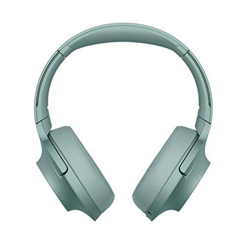 Sony WH-H900 h.ear Series Wireless Over-Ear Noise Cancelling High Resolution Headphones with Gesture control, 24 Hours Battery Life - Green