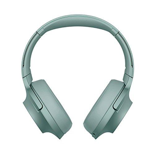 Sony WHH900N Cuffie Over-Hear Stereo, Bluetooth, Digital Noise Cancelling, Hi-Res Audio, Controllo Touch, con Microfono Integrato, Colore Verde