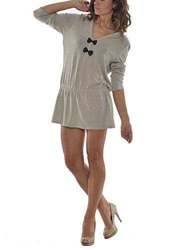 Laura Moretti - Vestito con lacci Beige