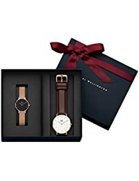 Daniel Wellington Classic Bristol And Classic Petite Melrose Black Couple Watch Combo