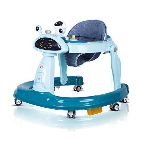 Klappbarer Activity Walker Helfer mit Verstellbarer Höhe, Baby Activity Walker mit gepolstertem Sitz mit hoher Rückenlehne, Rot,Blue,2 ()