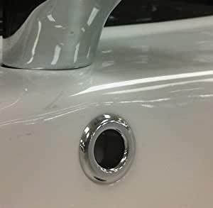 2 Bathroom Sink Basin Chrome Overflow Round Cover Trim ...