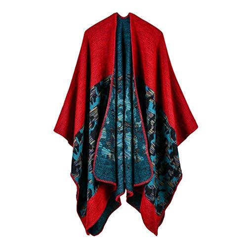 LUOLYLYM Sciarpe Da Donna Moda Camouflage Cashmere Diviso Allungato Spesso Scialle Mantello Xw-4 130 * 150 Cm