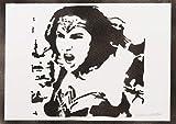 Póster Wonder Woman Liga De La Justicia Grafiti Hecho A Mano - Handmade Street Art - Artwork
