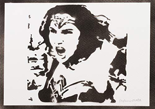 Wonder Woman Justice League Poster Plakat Handmade Graffiti Street Art - ()
