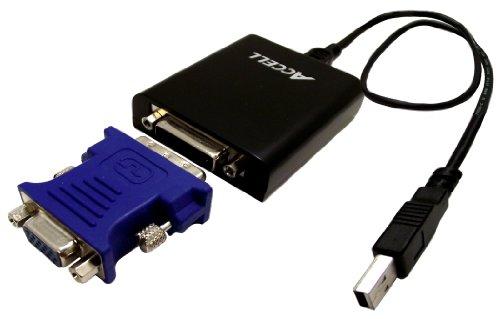Accell J130B-001B UltraVideo Video-Adapter (USB 2.0 auf DVI-I/ VGA)
