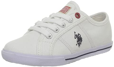 US Polo Assn Bange2, Baskets mode mixte enfant - Blanc (White), 32 EU