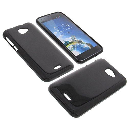 foto-kontor Tasche für Kazam Trooper X5.0 Gummi TPU Schutz Hülle Handytasche schwarz