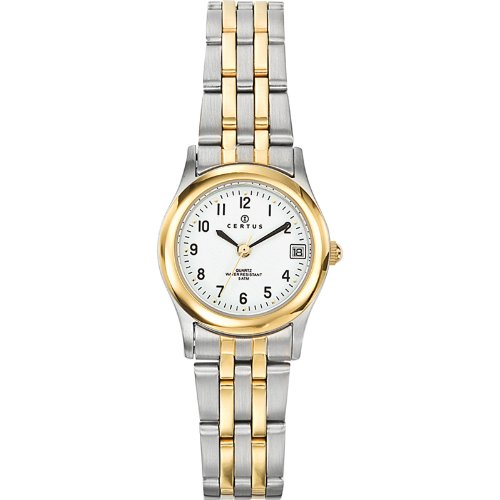 Certus 642364 – Ladies Watch – Analogue Quartz – White Dial – Two-Tone Metal Bracelet