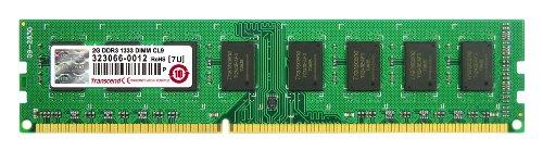 Transcend 2gb 240-pin (Transcend Arbeitsspeicher 2GB JM DDR3 1333Mhz U-DIMM 2Rx8 128Mx8 CL9 1.5V)
