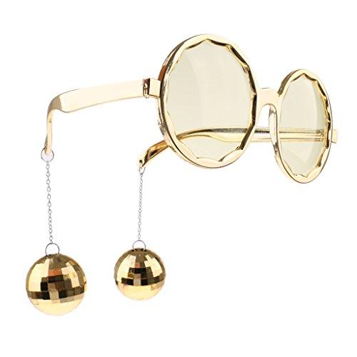 MagiDeal Unisex Spaßbrille Partybrille mit Hängender Kugel für Karneval Fasching Party Feier -...