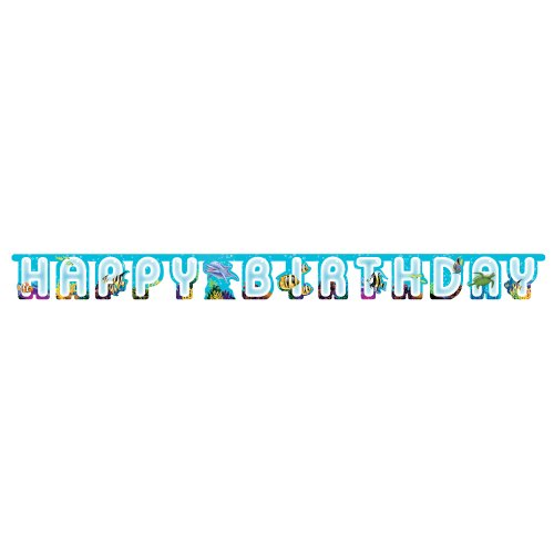 Unbekannt Creative Converting Ocean Happy Birthday Party Banner