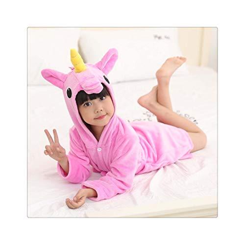 Flannel Cartoon Animal Shape Cosplay Boy Child Girl Bathrobe Baby Pajamas Home Service Halloween Party Gift 05 9T ()