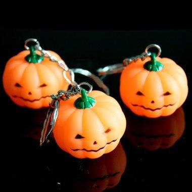Pakhuis Kürbis Bright Light LED Schlüsselanhänger Halloween Spielzeug (Light Dekorationen Up Kürbis)