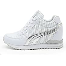 AONEGOLD® Zapatillas de Cuña para Mujer Zapatillas de Deporte Zapatillas Altas Primavera/Verano Tacón