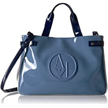 Armani Jeans Shopping bag woman Pvc Plastic light blue white blue