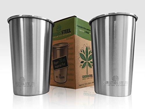 Taza-de-acero-inoxidable-de-600ml-Paquete-de-2-Vasos-Copas-de-Metal-Tumbler-Apilables-Premium
