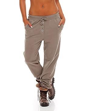 malito Harem Pantalón en el clásico Design Boyfriend Aladin Bombacho Sudadera Baggy Yoga 8021 Mujer Talla Única