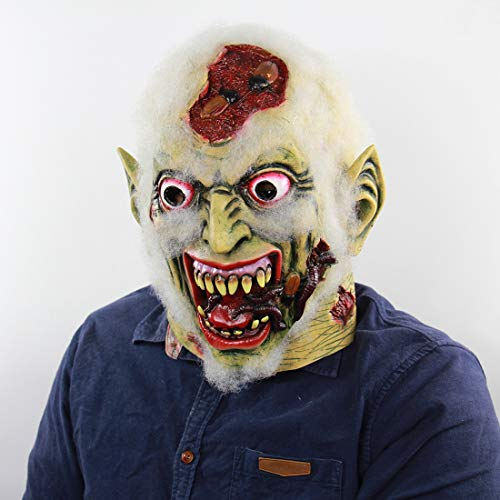 ZiQE Halloween Maske Kostüm Party Halloween Horror Faule Leiche Latex Geistermaske Geisterhaus Verkleidung (Style 37)