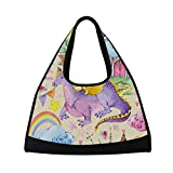 NISENASU Gym Bags,Childrens Fairy Tale Pattern Watercolor,New Sports Duffels Tennis racket backpack badminton short travel packs portable shoulder bag(20×6.7×18.5 in)