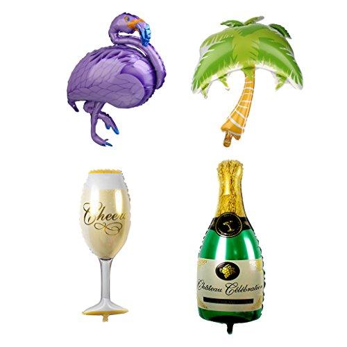 MagiDeal-La-Hoja-De-La-Palmera-De-La-Taza-De-La-Botella-Del-Flamenco-4pcs-Set-Balloons-La-Decoracin-Hawaiana-Del-Partido