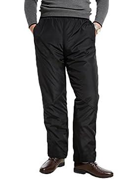 Zhhlaixing Clásico Winter Mens Plus Thick Velvet Padded Cotton Trousers Warm Pants