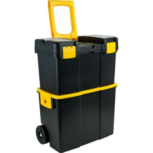 Stalwart Stackable Mobile Tool Box with Wheels by Stalwart