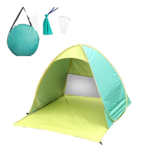 Allight Outdoor Strandzelt Strandmuscheln Zelte Family Automatik Schnell Pop Up Sonnenschutz UV-Schutz Tragbares Extra Leicht