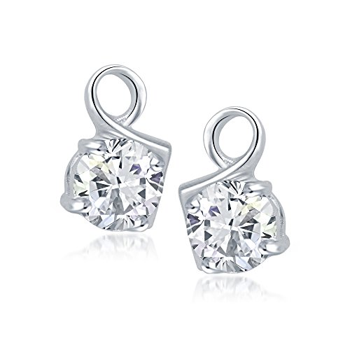 VK Jewels Modish Art Rhodium plated Solitaire Earrings – ER1024R [VKER1024R]