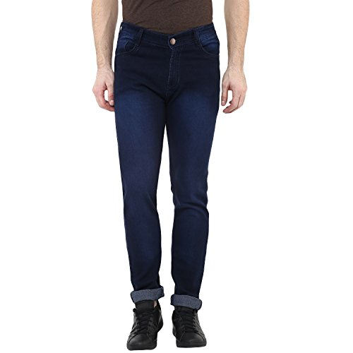 8407bb15b40b Urbano Fashion Men's Dark Blue Slim Fit Stretch Jeans - Buy Online in Oman.  | [missing {{category}} value] Products in Oman - See Prices, Reviews and  Free ...