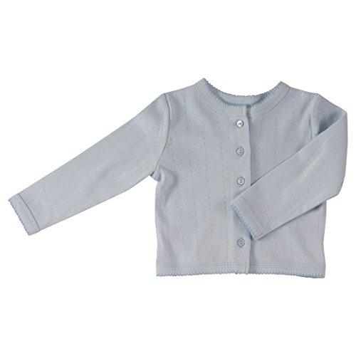 Pigeon Organics Pointelle Cardigan, Sommer Strickjacke für Jungen und Mädchen, Babykleidung aus 100% Biobaumwolle (KBA) (12-24 Monate, Baby Blue) Baby-pointelle