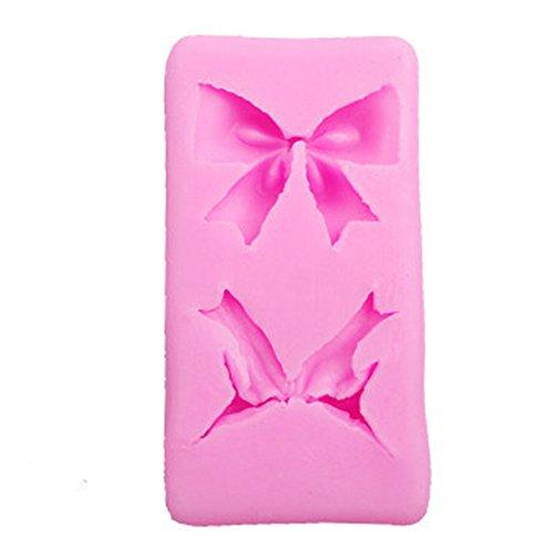zantec Kuchen Form Schmetterling Schleife Schleife Silikon für Fondant, Kuchen dekorieren Backform Werkzeuge 2 Small Bow-knot