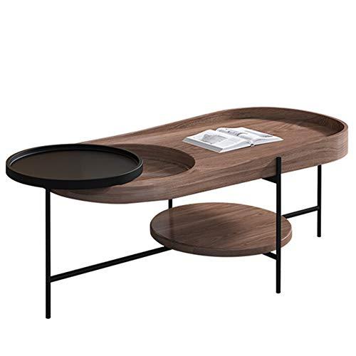 Mesa de Café For estar Comedor moderno de madera multifunción oval ...