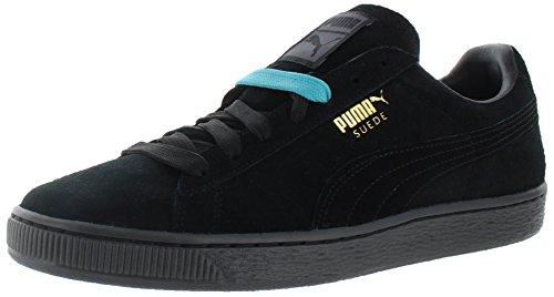Puma Suede Classic ghiacciato Sneaker Black-Team Gold
