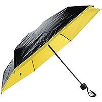 Yiwa Ultralight Mini Paraguas de Bolsillo 6 Lazos, Plegable, Anti Rayos UV, Resistente